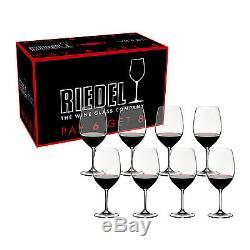 Riedel Vinum Cabernet Sauvignon/Merlot/Bordeaux Pay 6 Get 8 Glasses Set of 8