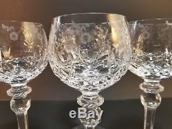 Rogaska Gallia Crystal Hock Red Wine Glasses Balloon Goblets 4pc Set Yugosalvia