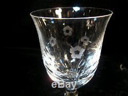 Rogaska Set Of 10 Crystal Wine Glasses