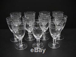 Rosenthal Crystal FLORENTINE Claret Wine Glasses 4 3/4 / Set of 11 /Excellent