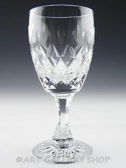 Royal Brierley Cut Crystal GAINSBOROUGH 7 WINE WATER GOBLETS GLASSES Set 10