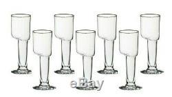 SET OF 7 Carlo Moretti Signed ASIMMETRICO 7 Wine Glasses (7.5 oz) Murano Italy
