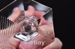 SET of 6 Baccarat Crystal Cut Hexagonal Wine Glass goblets stemware Opera 6.5