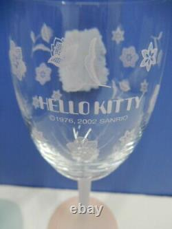 Sanrio Hello Kitty Daniel Wedding Wine Glass Pair Set 2002 Tableware