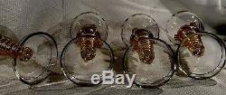 Set 12 Fritz Heckert Hock Wine Roemer Glasses W Master Czech Bohemian Moser 1880