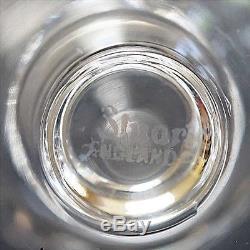 Set 6 Large Stuart Crystal Vintage Red Wine Water Glasses Goblets Signed Pre1950