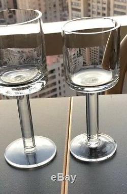 Set Of 13 Bergen Calvin Klein Wine Goblet Glasses