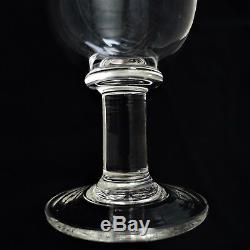 Set Of 4 Signed Simon Pearce- Essex Hand Blown Water/wine Goblets Glasses