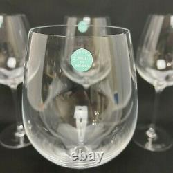 Set Of 4 Tiffany & Co. Crystal Red Wine Glass Wineglasses 9 1/2 Tall