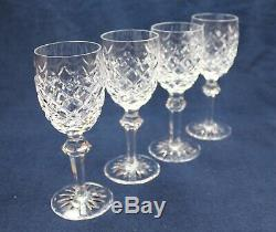 Set Of 4 Waterford Crystal Powerscourt White Wine Glasses, Excellent