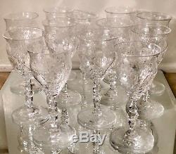 Set of 10 Signed Webb English Cut Crystal Port Wine Stems