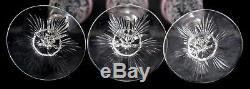 Set of 10 Venetian Latticino Art Glass Flared Intaglio Wine Goblets 19th cent