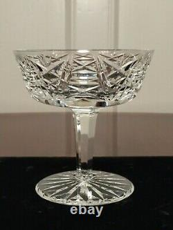 Set of 11 True Vintage WATERFORD CRYSTAL Clare Champagne Wine Sherbet Glasses