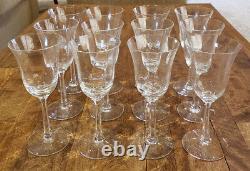 Set of 12 Lenox Crystal ALLURE Clear Optic - 6-5/8 Wine Goblets Glasses