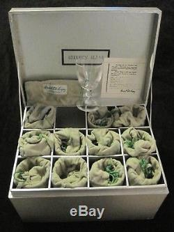 Set of 12 Never Used Boxed Steuben Port Wine Glasses #6268. Marshall Field Co
