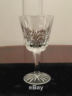 Set of 12 True Vintage WATERFORD CRYSTAL Lismore 6 oz Wine Glasses 5-7/8