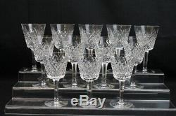 Set of 12 Vintage ALANA 5 7/8 Claret Wine Glasses by WATERFORD Ireland