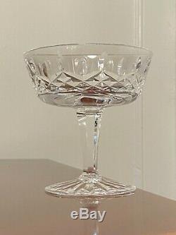 Set of 12 Vintage WATERFORD CRYSTAL Lismore Champagne Wine Sherbet Glasses