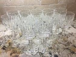 Set of 12-WATERFORD KILDARE-White Wine glasses-MINT-RETIRED