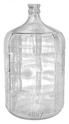 Set of 3 5 Gallon Glass Carboy Fermenter For Beer or Wine Making