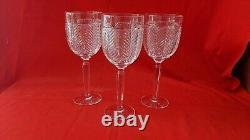Set of (3) Ralph Lauren 15 oz Herringbone Wine Goblets 9.25 H, Germany