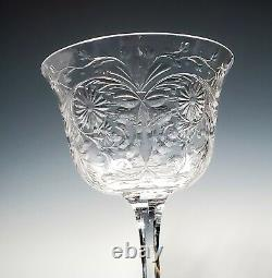 Set of 4 ABP American Brilliant Cut Glass Sinclaire Stems Florida Pattern-RARE