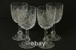 Set of 4 BACCARAT COLBERT Crystal France Tall Water Goblet Wine Glass 7 1/4