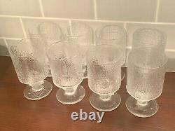 Set of 4 Iittala Timo SarpenavaIce Ice Glass Festivo Senator Wine Glasses