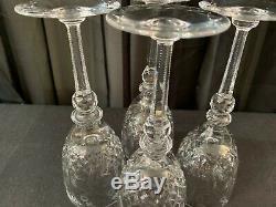 Set of 4 Rogaska GALLIA Yugoslavian Crystal Wine Glasses 7 5/8 Tall