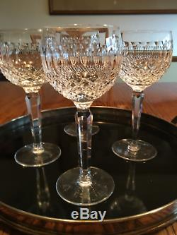 Set of 4 Waterford Crystal, Colleen Hock Wine Glasses, 7.5 tall. Excellent