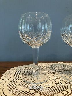 Set of 4 Waterford Crystal Lismore Balloon Wine Glasses Stems