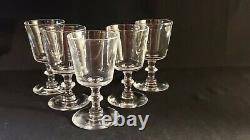 Set of 5 signed Steuben Wine Glasses