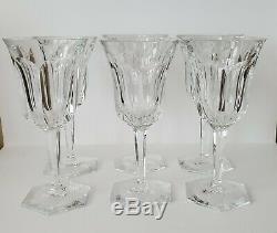 Set of 6 BACCARAT Chrystal wine glasses MALMAISON France. Signed. Large