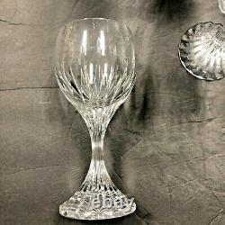 Set of 6 BACCARAT Massena Water Wine Goblet Art Glasses 7 Cut Crystal France
