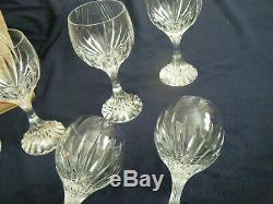 Set of 6 Baccarat Massena Verre 6 1/2 inch tall Wine glasses Original Box