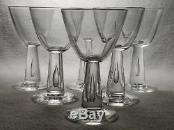 Set of 6 Beautiful Signed Steuben Crystal #7980 Teardrop Wine Glasses