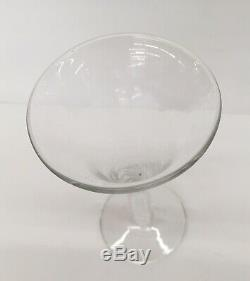 Set of 6 Blenko Royal Leerdam Colonial Williamsburg Air Twist Glasses