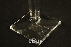 Set of 6 Moser Crystal Cut Art Glass Multi Color Wine Glasses Bristol Pattern