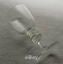 Set of 6 Signed Steuben Crystal Sherry Wine Glasses Shape #7925 4 1/2