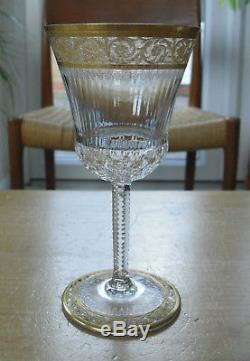 Set of 6 St Louis Crystal Thistle Pattern 7oz Wine Glasses 6 3/8(16.25cms)