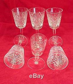 Set of 6 Waterford Crystal CLARE CLARET / WINE GLASS 5 3/4 Glasses