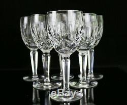 Set of 6 Waterford Kildare 6 1/2 H Plain Base Claret Wine Glasses