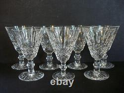 Set of 7Waterford Crystal TRAMORE Claret WINE Glass5 1/4 Gothic Ireland Mark