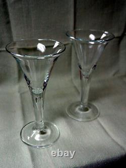 Set of 7 Colonial Williamsburg Teardrop Crystal Wine Goblets Royal Leerdam