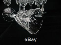 Set of 7 Waterford Crystal Kinsale 6 Clarets Wine Glasses