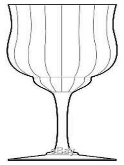 Set of 8 Elegant Baccarat CAPRI 6 Claret Wine Glasses