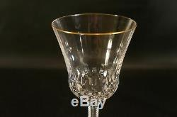 Set of 8 France Crystal St Louis Apollo Wine Glasses With Gold