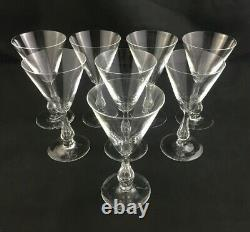 Set of 8 Kosta Boda 5 5/8 Claret Wine Glass GRACE Pattern Sweden Signed