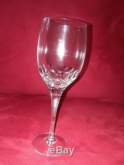 Set of 8 ORREFORS PRELUDE clear crystal claret Wine Glasses (7 3/8 tall)