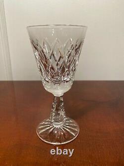 Set of 8 Vintage WATERFORD CRYSTAL Kinsale 5.5-inch Claret Wine Glasses IRELAND